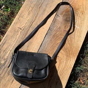 Vintage black saddlebag COACH shoulder bag